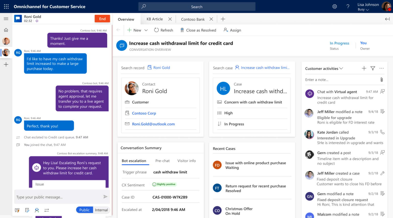 Omnichannel for Dynamics 365 Customer Service with Power Virtual Agent